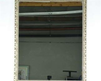 Carved Whitewashed Provincial Frame Mirror