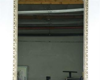 Carved Whitewashed Provincial Frame Mirror 2