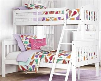 Viv + Rae Suzanne White Twin Over Full Bunk Bed