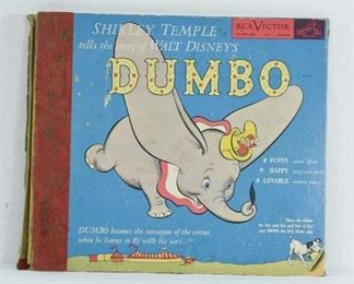 Disney'S Dumbo Read By Shirley Temple Vinyl Record Set