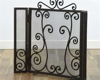 Contemporary Scrolled Metal Fireplace Screen