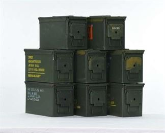 Set 8 Military Ammunition Cans