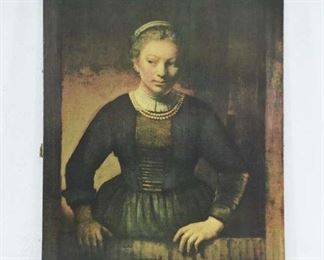 Glicee On Canvas Rembrandt Portrait Unframed