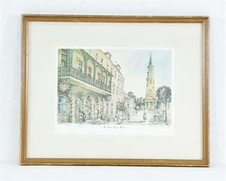 Pencil Signed Emerson Watercolor Framed Art