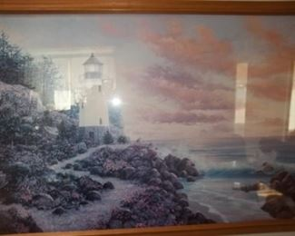 beautiful lighthouse wall art