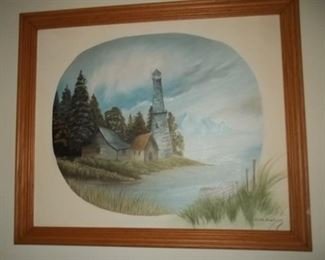 more nice signed lighthouse art