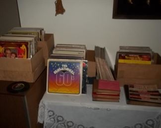large amount of classical and vintage vinyl records