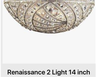 """Renaissance 2 light 14"""" Sunset Silver Sconce Wall lights"""