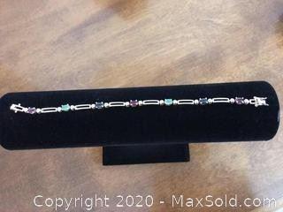 Sterling Silver Semi-Precious Stone Bracelet