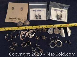 15 Pair Sterling Silver Earrings