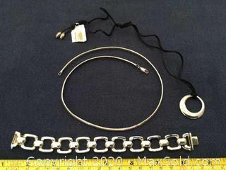 Sterling Silver Necklace, Link Bracelet