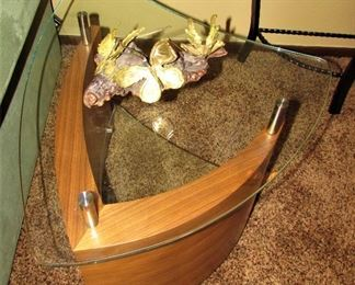Double Glass End Table