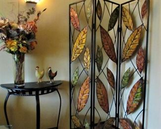 Wall Table, Metal Chickens and Wall Divider