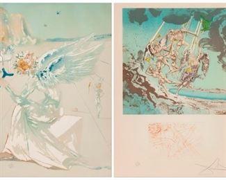 1: Salvador Dali, 'Return of Ulysses' & 'Helen of Troy'