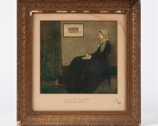 2: James McNeill Whistler Signed Print, Whistler's Mother