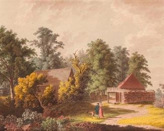 7: Christian August Gunther (1759-1824) Watercolor