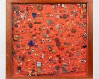 8: Collection of 350+ Pins, Badges, & Medals, WWII Era