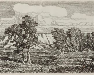 10: Birger Sandzen 'In the Meadow' Pencil-Signed Lithograph
