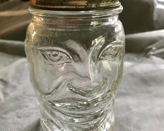 Glass face  jar with slot $24.00