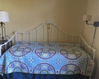 Iron Day Bed. Twin size with mattress.   Available now!             Call Linda at 615-268-5388