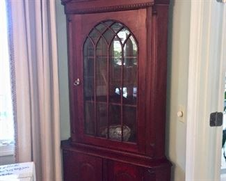 """Antique Walnut Corner Cabinet  (2 available).    Measures  66""""x40"""" x 29"""" deep.  Available now!             Call Linda at 615-268-5388"""