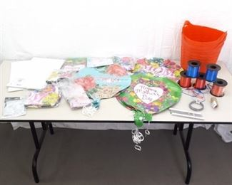 Lot of NEW Mothers Day Themed Party Supplies, Foil Balloons, etc.