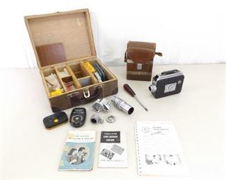 Vintage Cine Kodak Magazine 8 Movie Camera and Accessories