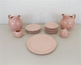 RARE Mid Century 24 Piece Taylor Smith and Taylor Lu-Ray Pastels Pink Set