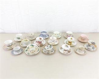17 Vintage Teacup and Saucer Sets