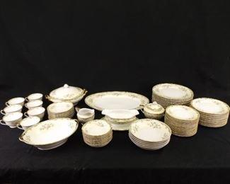 68 Piece Set of Antique Noritake Porcelain China