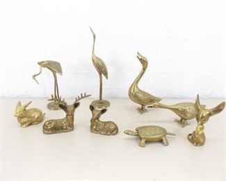 Lot of Misc. SOLID Brass Animal Figures