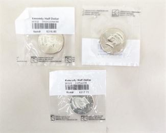 3 Littleton Graded 2010-P, D, and S Kennedy Uncirculated Half Dollars