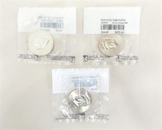3 Littleton Graded 2009-P, D, and S Kennedy Uncirculated Half Dollars
