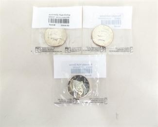 3 Littleton Graded 2008-P, D, and S Kennedy Uncirculated Half Dollars