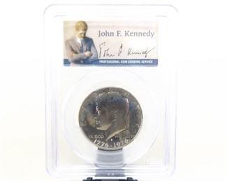 Professionally Graded 1976-S Kennedy Half Dollar