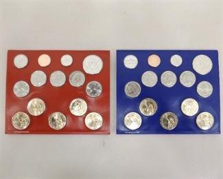 2012 Denver and Philadelphia US Uncirculated Mint Sets; $13.82 Face Value