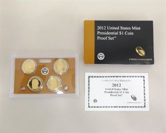 2012 US Uncirculated Presidential Dollar Proof Set