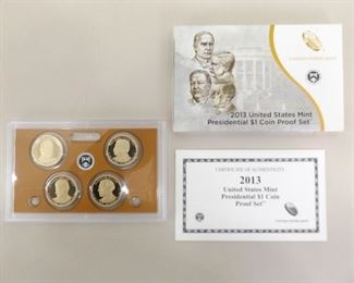 2013 US Uncirculated Presidential Dollar Proof Set