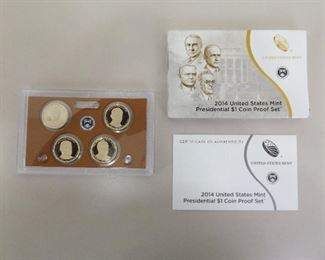 2014 US Uncirculated Presidential Dollar Proof Set