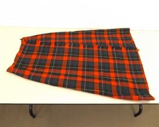 "Pendelton Classic Plaid Size 16 Waist (39.5"" Long) Wool Skirt"