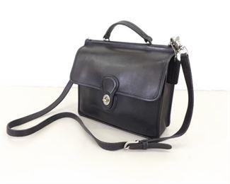 Authentic Vintage COACH Black Leather Willis Station Bag