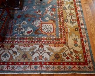 "Hand knotted rug, approx. 12'9"" X 9'7"""
