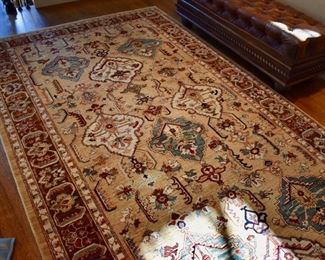 "Hand knotted hall rug, approx. 14'6"" X 6'"