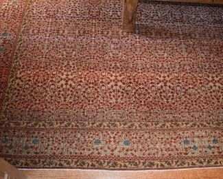 "Hand knotted rug, approx. 8'10"" X 11'7"""