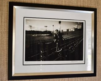 Artist's proof photograph of Ted Williams, signed by artist, Philip Porcella