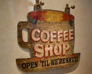 Metal Coffee Shop sign