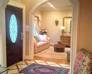 Front door entry to Formal Living & Dining