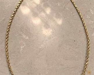 279m 14K Gold Rope Necklace