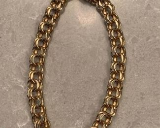 281m 14K Gold Rope Bracelet