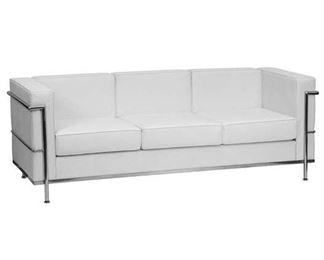 Upper Square Demars Le Corbusier Style White Sofa